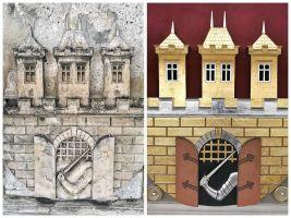 zdroj facebook Petr Hájek Architekti Popisek: Srovnávací fotografie z rekonstrukce Letenské vodárenské věže