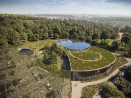 Vizualizace nového vstupu do pražské botanické zahrady. Autor Fránek Architects