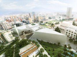 zdroj studio BIG/ Popisek: Vizualizace mešity