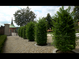 Habry oddělující Rajskou zahradu od zahrady Na Valech