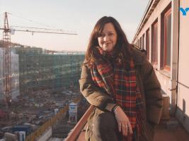 Herečka Tereza Brodská při natáčení dokumentu o výstavbě jejího nového bytu