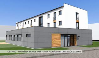 Z bývalé ubytovny v Ostrově vznikají byty pro seniory