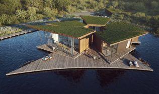 Z chátrající nádrže příbytek pro lidi i ptáky. V anglickém hrabství Hampshire vznikne plovoucí dům