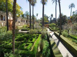 zdroj profimedia.cz Popisek: Zahrady královského paláce v Seville