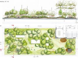 zdroj ČSOB Popisek: Návrh střešních zahrad komplexu