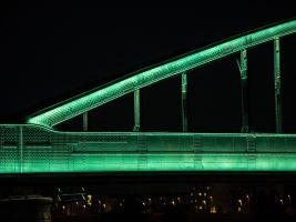 Rozsvícený Hendrixův most, detail