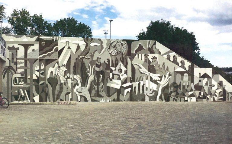 Zeď u stanice metra C ozdobí nová malba