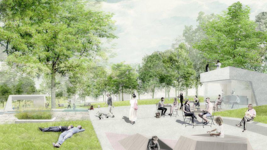 Život do parku Střed v Mostě vrátí architekti Rehwaldt a Hoffman