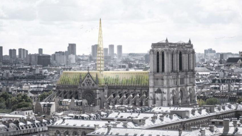 Zničenou část katedrály Notre Dame by mohl nahradit skleník a včelín